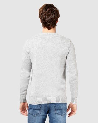 Jeanswest Reggie Crew Knit - Jumpers & Cardigans (Grey Marle)