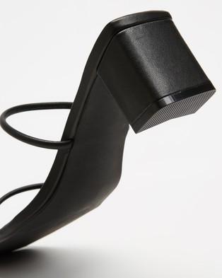 Sol Sana Lottie Mules - Sandals (Black Leather)