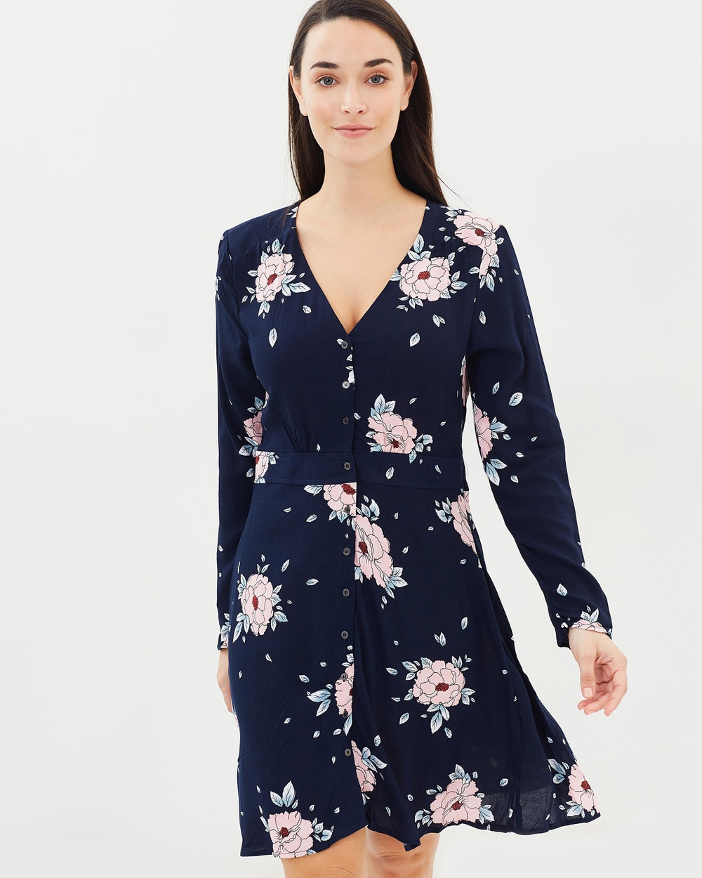 Cotton On Woven Bella Long Sleeve Tea Dress Printed Dresses Jenny Floral Tot Woven Bella Long Sleeve Tea Dress