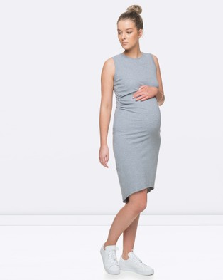 BAE the Label – Shadow Sounds Dress – Dresses (Grey Marle)