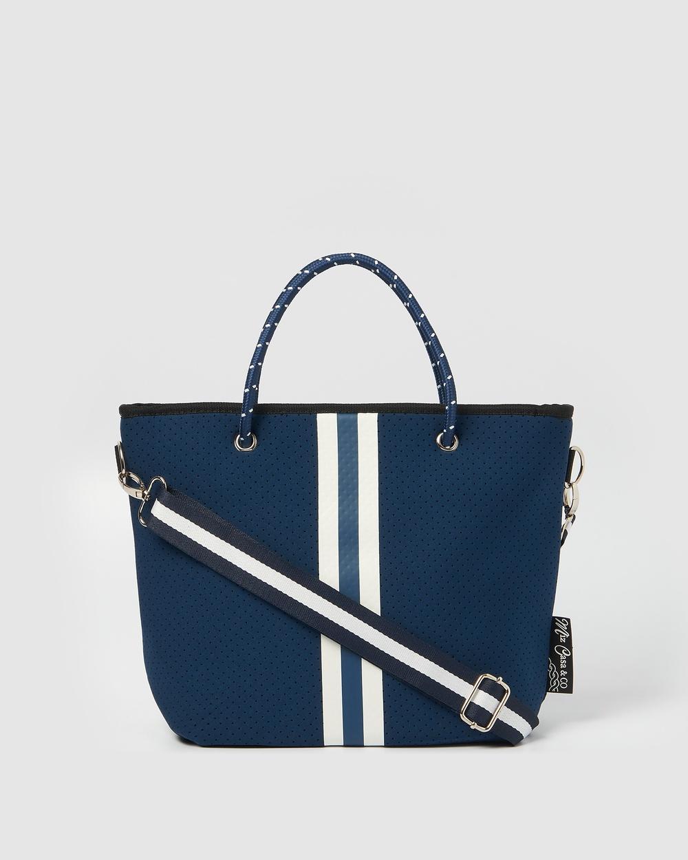 Miz Casa and Co Beverly Neoprene Mini Tote Bag Bags Navy