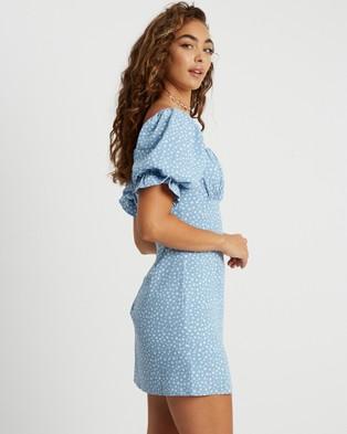 Savel - Moriah Mini Dress - Printed Dresses (Pale Blue Floral) Moriah Mini Dress