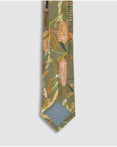 Peggy And Finn Grass Tree Tie Sage