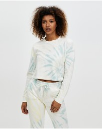 Beyond Yoga - Tie Dye Weekend Boxy Cropped Pullover