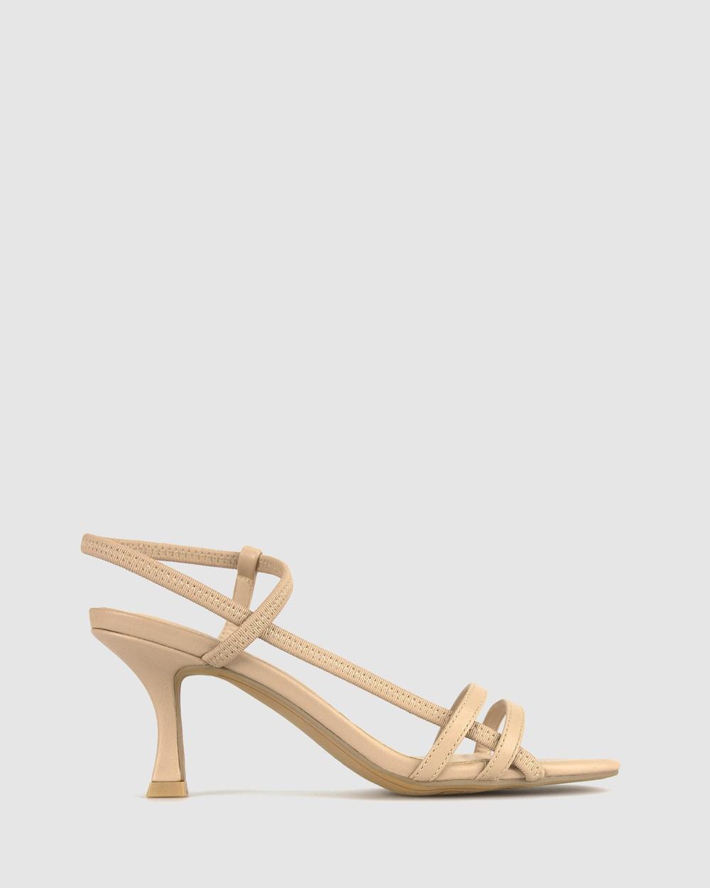 Betts Linear Bare Stiletto Sandals Nude Australia