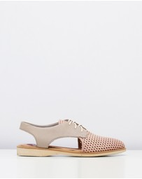Rollie - Slingback Punch Blush Stone