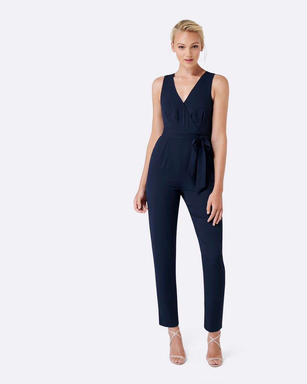 Forever New Stella Tapered Leg Jumpsuit Dresses Navy Stella Tapered Leg Jumpsuit