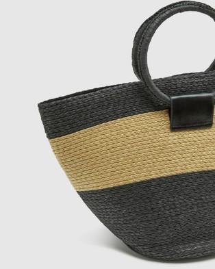 Oxford Odette Straw Bag - Handbags (Black)