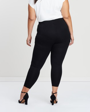 Atmos&Here Curvy Stacey Ponte Pants - Pants (Black)