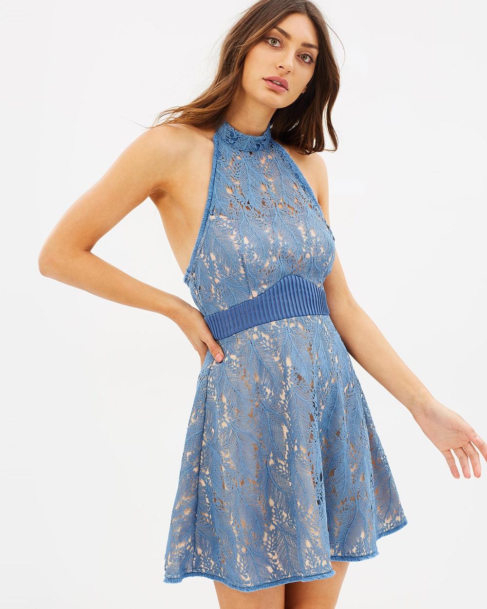 Talulah Delilah Halter Mini Dress Dresses Blue Haze Delilah Halter Mini Dress