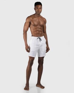 Coast Clothing Linen Shorts - Shorts (White)