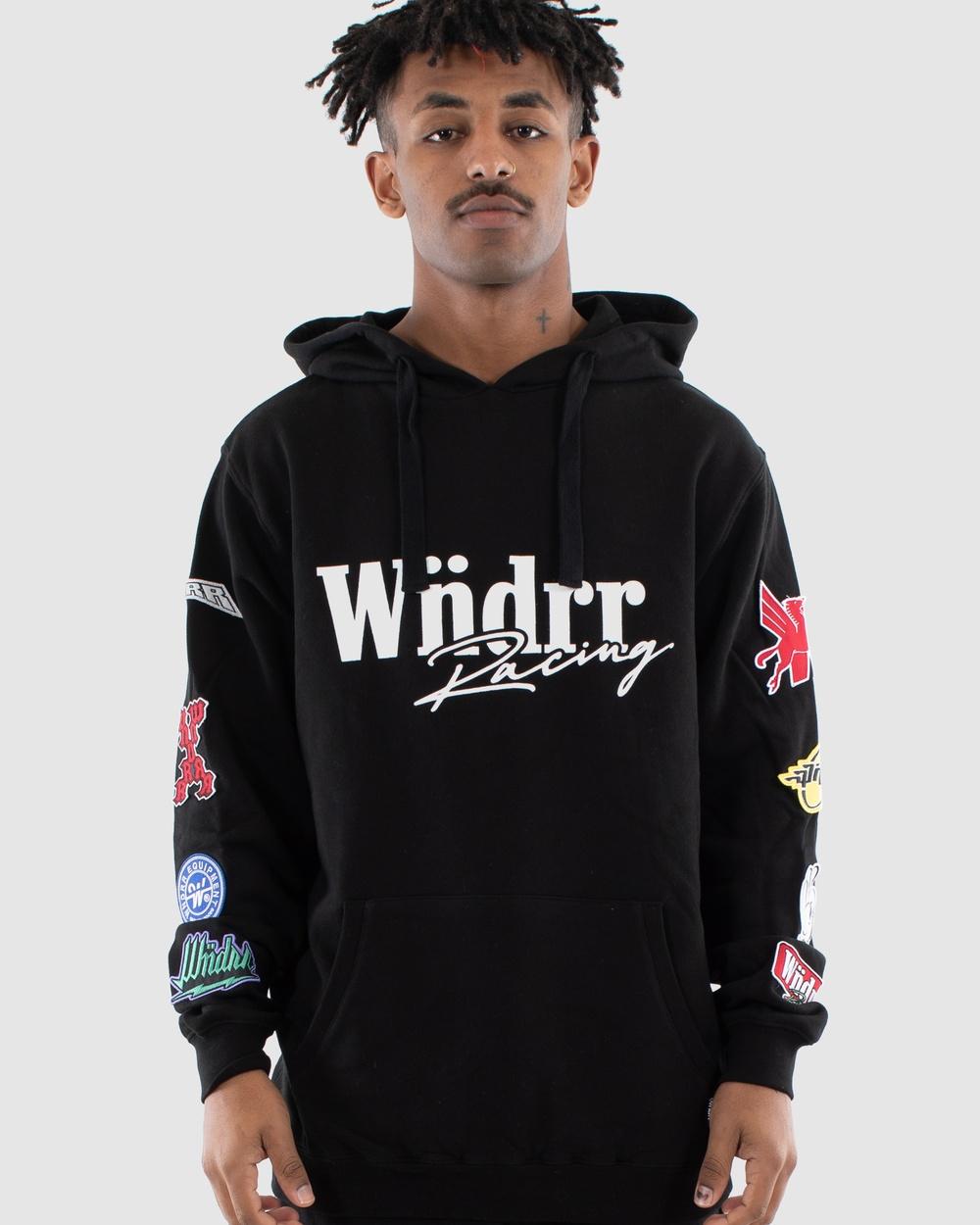 WNDRR Exceed Hood Sweat Hoodies Black Australia
