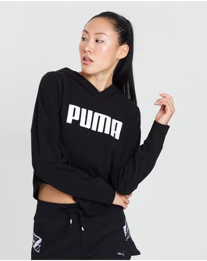 Puma Summer Cropped Light Hoodie Cotton Black
