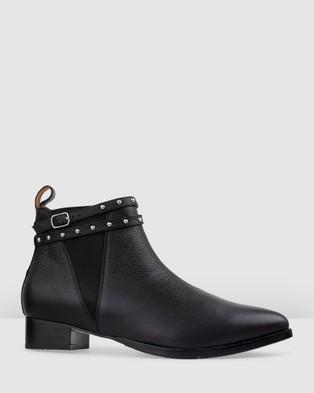 Bared Footwear - Conure Flat Boots Women's (Black Studded)