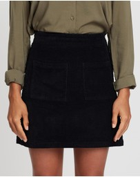 Cotton On - A-Line Front Pocket Cord Mini Skirt