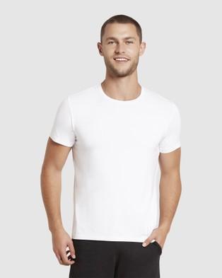Boody Organic Bamboo Eco Wear - Crew Neck T Shirt - Short Sleeve T-Shirts (White) Crew Neck T-Shirt