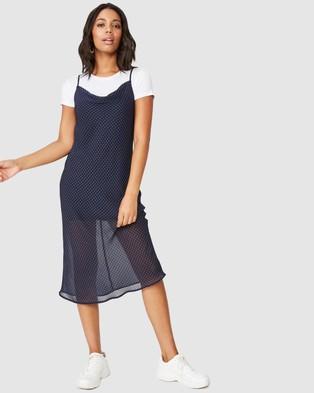 Cotton On Woven Roxy Midi Slip - Printed Dresses (Abby Gingham Navy)