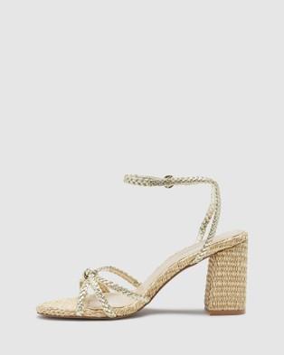 Oxford Lita Metallic And Raffia Heels - Heels (Metallic)