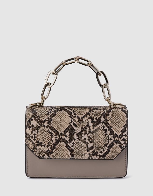 Olga Berg - Savannah Snake Print Shoulder Bag