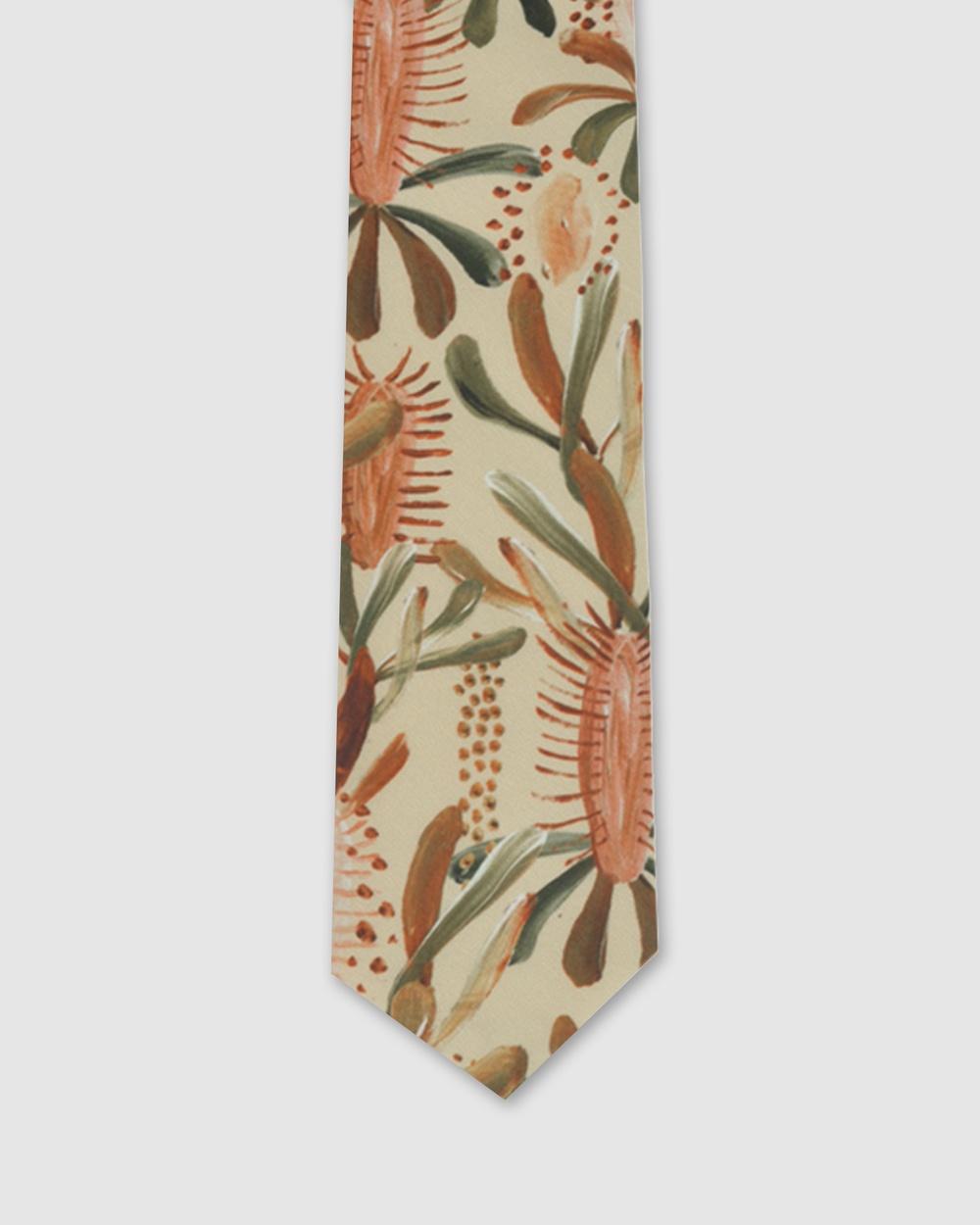 Peggy and Finn Grass Tree Tie Ties Nude