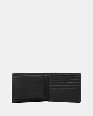 Buckle Wilbur RFID Leather Wallet - Wallets (Black)
