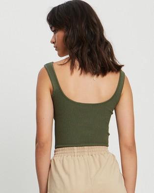 ST MRLO Hamptons Knit Top - T-Shirts & Singlets (Khaki)