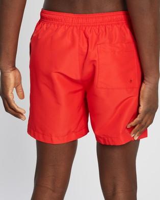 Calvin Klein Core Placed Logo Medium Drawstring Swim Shorts - Swimwear (High Risk)