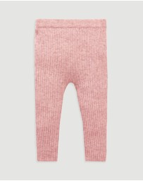 Purebaby - Rib Knit Leggings - Babies