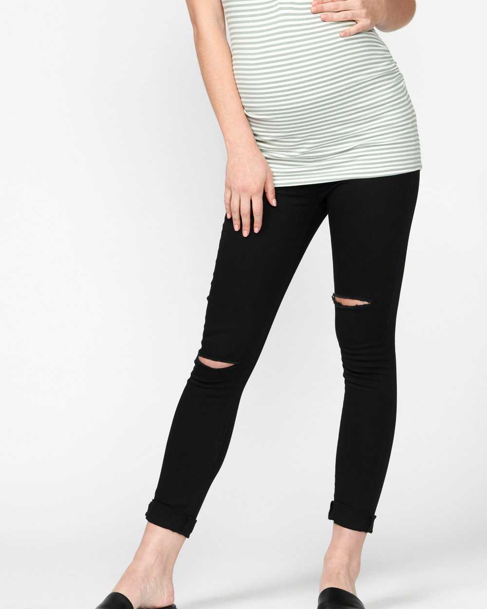ba1cb1d3fd87c Bobbi Distressed Skinny Jeans by Pea in a Pod Maternity Online | THE ICONIC  | Australia
