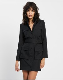 Honey and Beau - Aviator Jacket Dress
