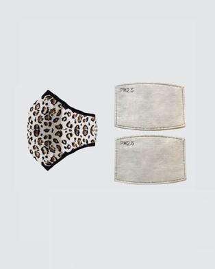 Clear Collective - Reusable Cotton Face Mask Wellness (Leopard Print)