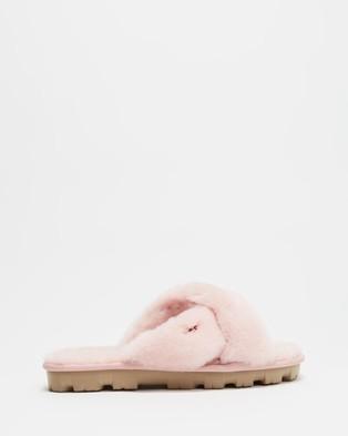 UGG Fuzzette Slides   Women's - Sandals (Pink Cloud)