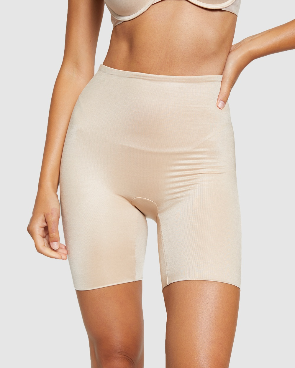 Spanx Power Conceal Her Mid Thigh Shorts Lingerie Nude Conceal-Her Mid-Thigh