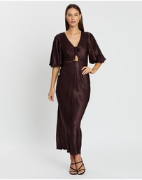 Shona Joy - Flutter Sleeve Bias Slip Dress