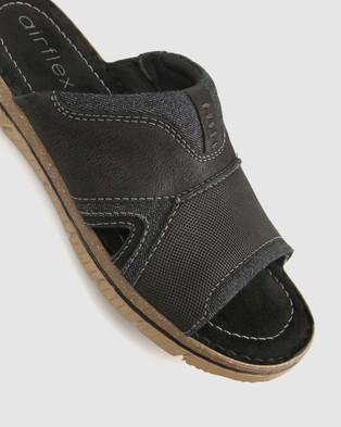 Airflex Guard Mixed Textile Slide - Casual Shoes (Black)