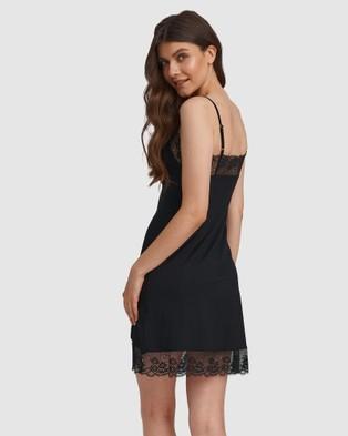 Oh!Zuza Lace Trim Chemise - Sleepwear (Black)