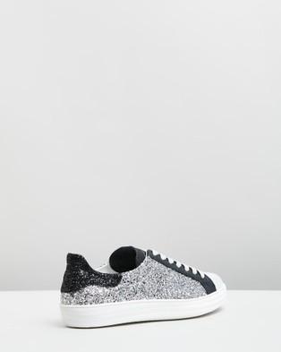 D.O.F Indiana Sneakers Black & Silver Glitter