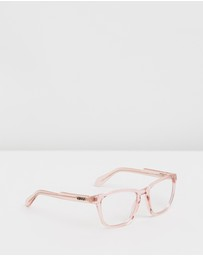 Quay Australia - Hardwire Pink Square Blue Light Glasses