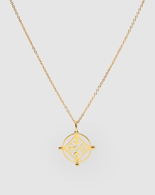 Pastiche Mosaic Necklace - Jewellery (Gold)