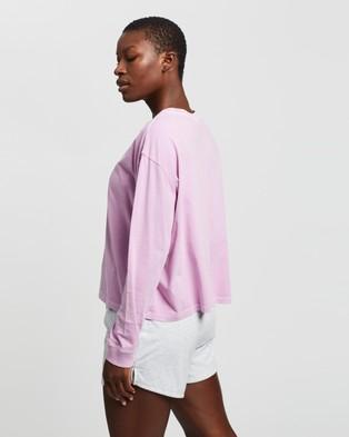 Bonds - Light Weight Long Sleeve Boxy Tee - Long Sleeve T-Shirts (Purple Smoke) Light Weight Long Sleeve Boxy Tee