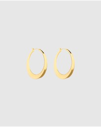 Oroton - Emaille Fine Large Hoops