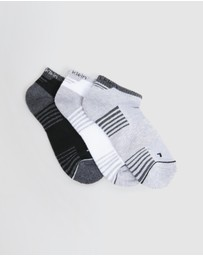 Calvin Klein - Performance Athletic No Show Socks 3-Pack - Kids-Teens