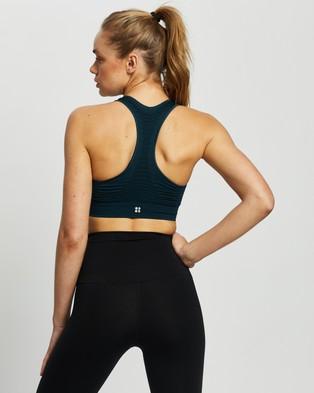Sweaty Betty Stamina Workout Bra - Crop Tops (Beetle Blue)