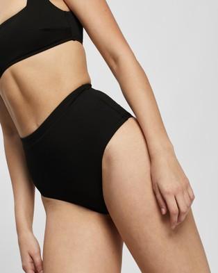 BONDI BORN Tatiana Bikini Bottoms - Bikini Bottoms (Black)