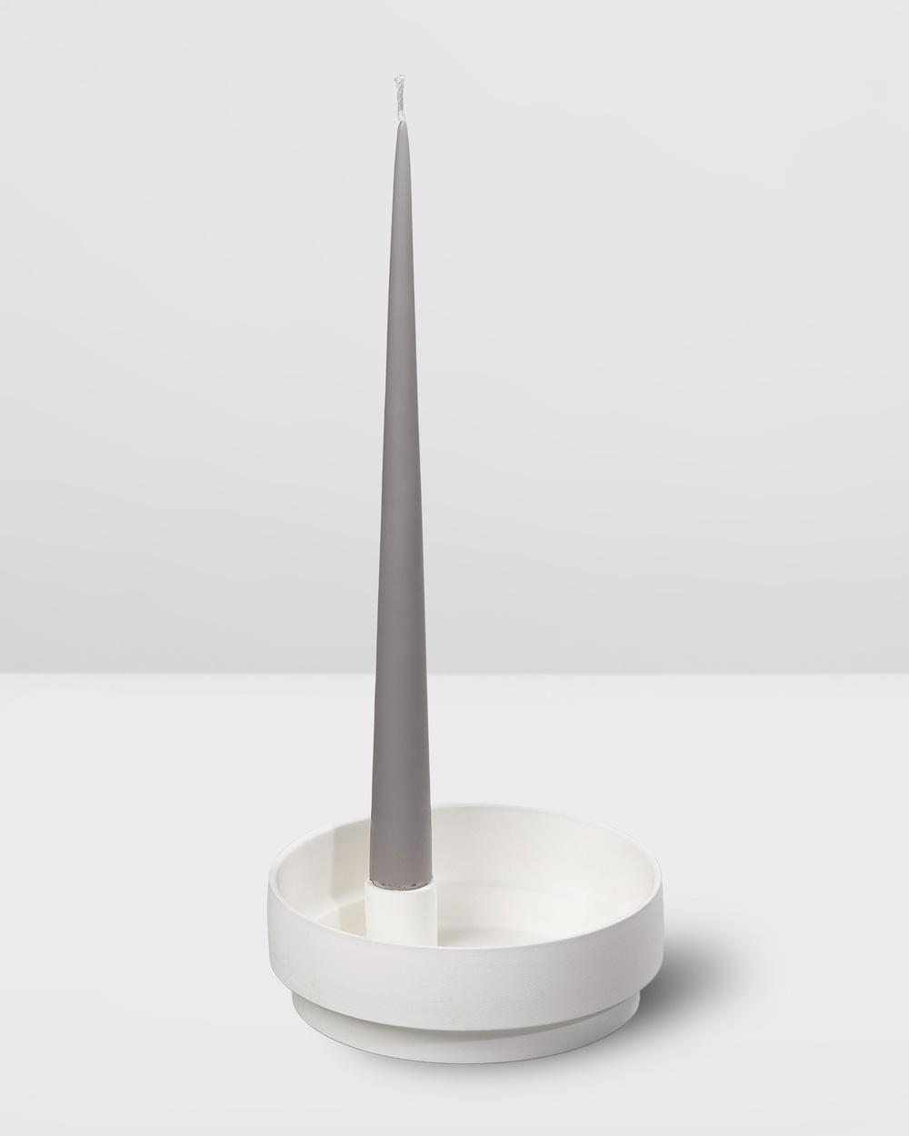 Aery Living Orbital Step Ceramic Candle Holder Medium Home White