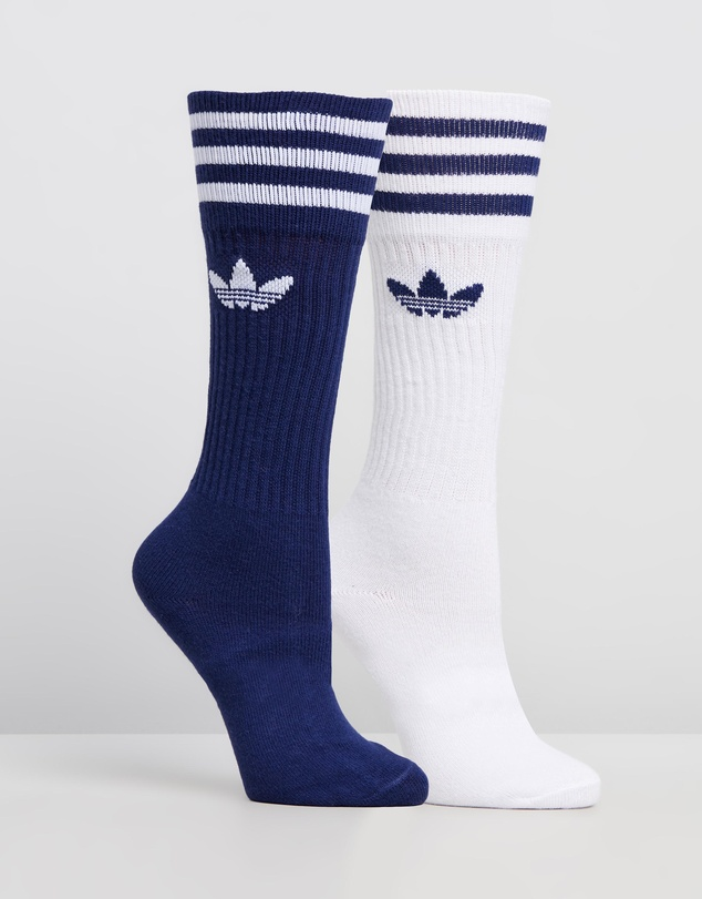 adidas Originals - 2-Pack Solid Crew Socks - Men's