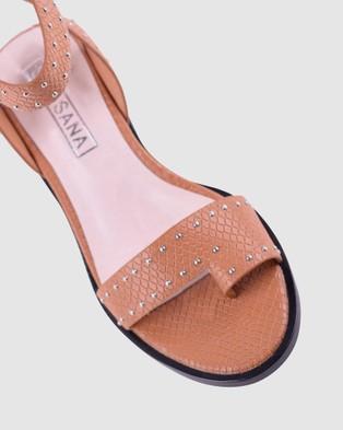 Sol Sana Liv Heels - Sandals (Toffee)