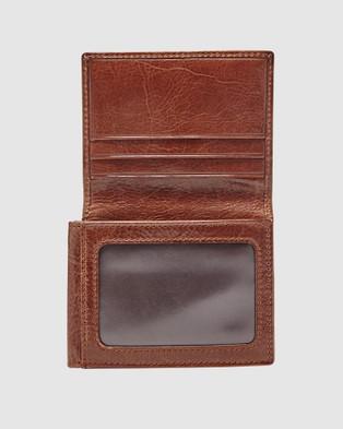 Fossil Ryan Dark Brown Trifold Wallet - Wallets (Dark Brown)