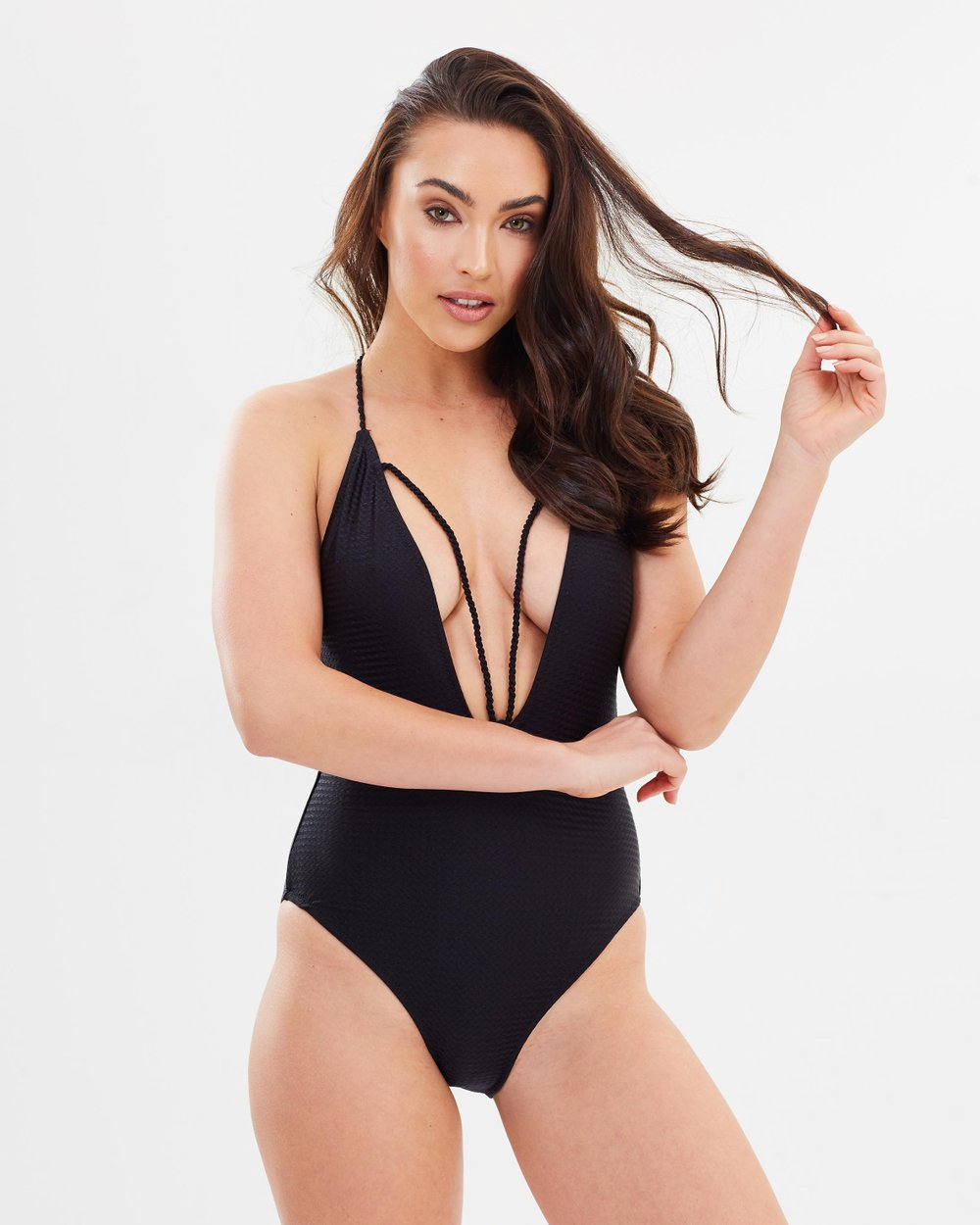 ead606217a Textured Rope Detail Swimsuit by Missguided Online
