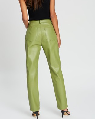Dazie Look At Her Now PU Pants - Pants (Green)